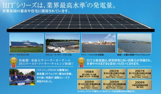 HITシリーズは、業界最高水準の発電量